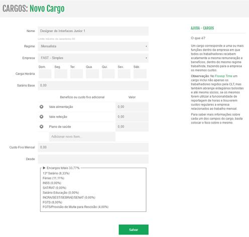 Novo Cargo no Flowup