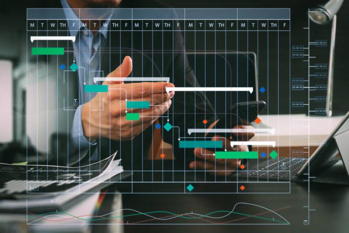 gráfico de gantt na gestão de projetos